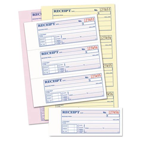 chandiler receipt template money rent receipt books 2 3 4 x 7 1 8 three part