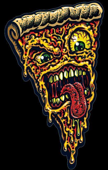 pizza face vinyl sticker  artwork created  legendary