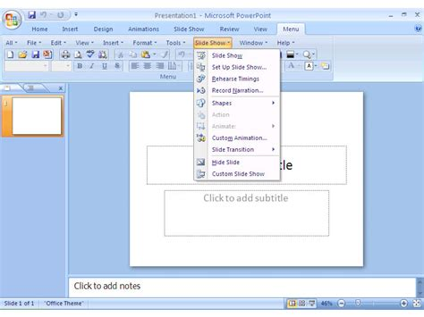 Menu Office by Classic Menu For Office 2007