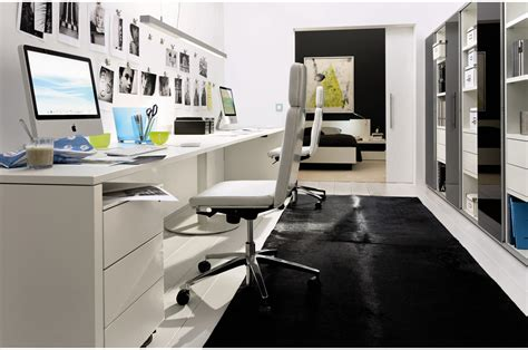 simple office decoration  small space  modern