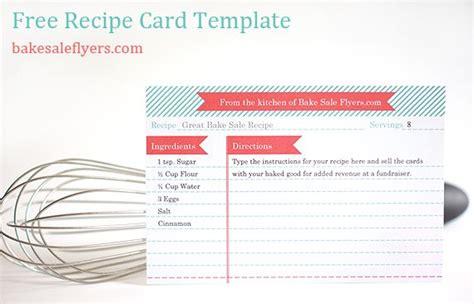 recipe card template recipe card template for word