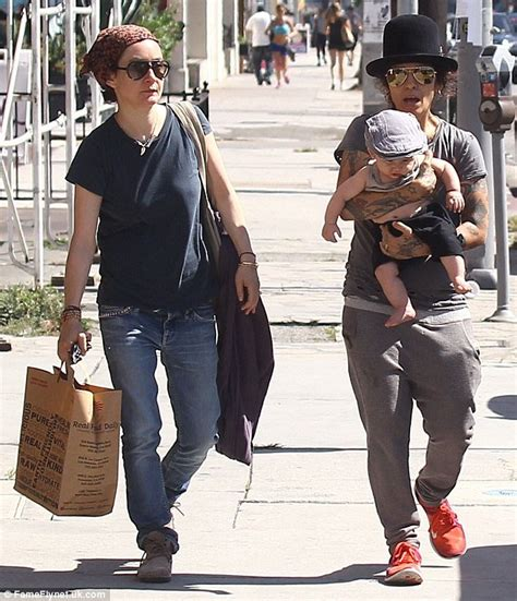 linda perry on the view linda perry dotes on adorable five month old son rhodes