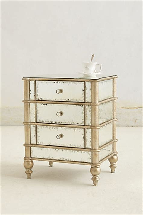 Eclectic Nightstands mirrored nightstand contemporary nightstands and bedside tables by anthropologie