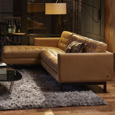 american leather parker sofa price american leather parker casual sectional with right arm