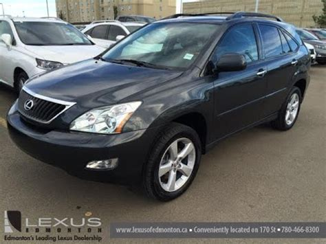 lexus rx 350 2008 pre owned grey on black 2008 lexus rx 350 awd walk around
