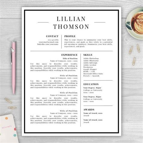 25 best ideas about professional resume template on professional resume design