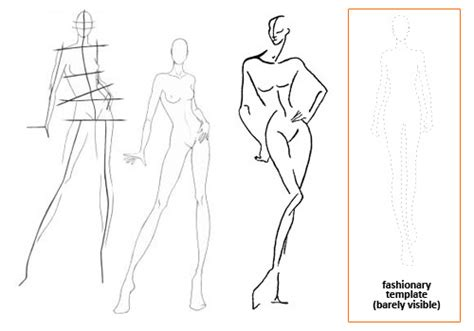 the gallery for gt fashion design sketch model templates