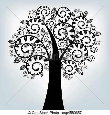 alberi clipart illustrazioni vettoriali di stilizzato nero albero