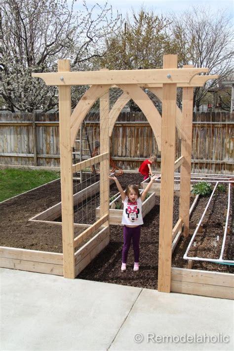diy trellis arbor remodelaholic diy house garden arbor