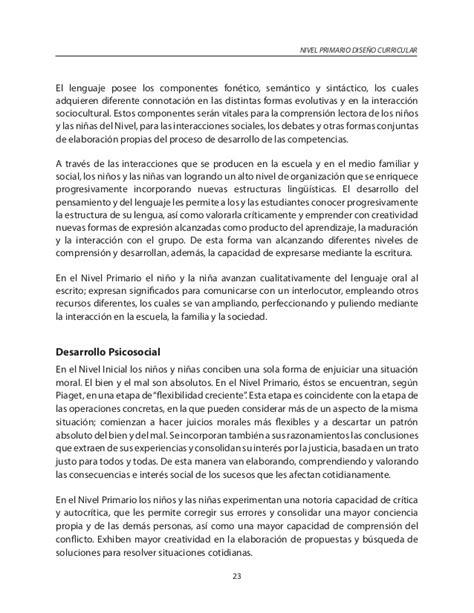 Diseño Curricular Dominicano Primer Ciclo Nivel Primario Primer Ciclo