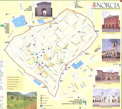 norcia italy map norcia italy map