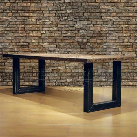 tavolo legno massello grezzo tavoli in legno massello e gambe in ferro da 480 00