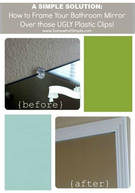 how do you frame a bathroom mirror frame your bathroom mirror plastic