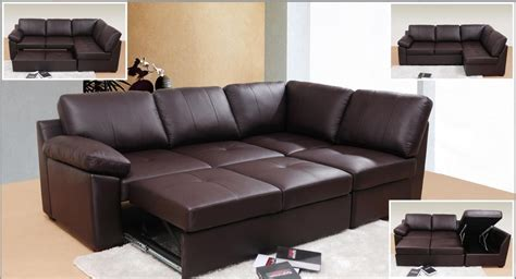 Sectional Leather Sofa Bed Looking And Stylish With Leather Sofa Bed Theydesign Net Theydesign Net