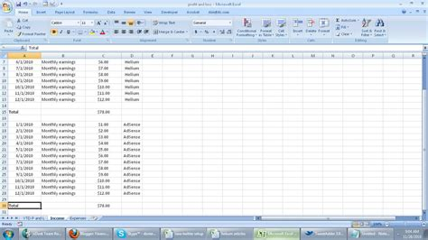 Rental Income And Expenses Spreadsheet by View Size