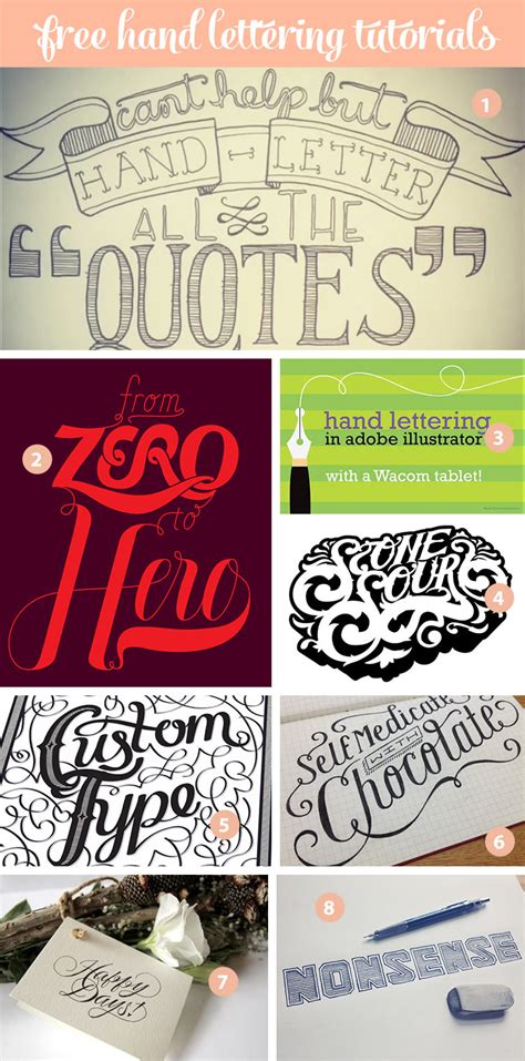 free tutorial hand lettering 17 awesome hand lettering tutorials