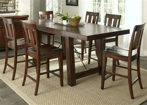 mahogany dining room set tahoe mahogany stain gathering dining room set from