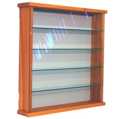 kenareich584 exhibit solid wood 4 shelf glass wall