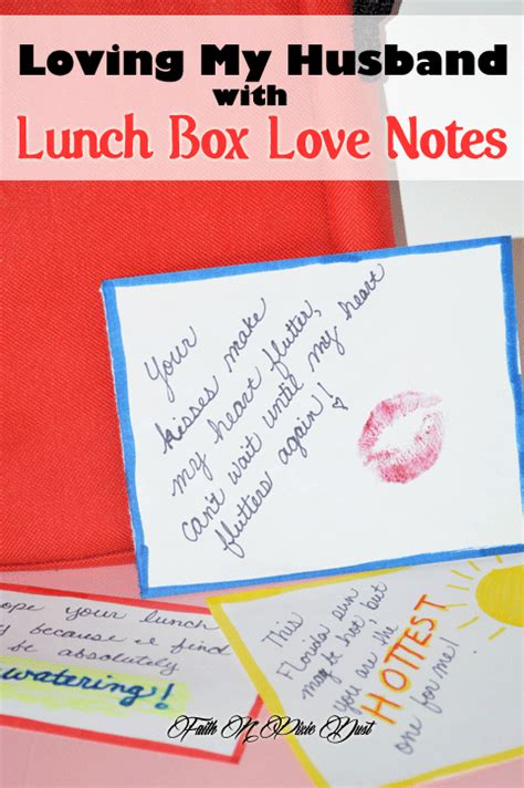 Lunch Box Love Notes Not Just For Kids