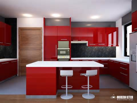 red high gloss kitchen anatomy architecture atelier