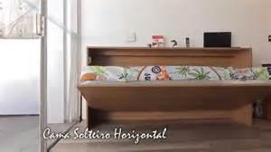 Murphy Bed Brasil Cama Retr 225 Til Solteiro Horizontal Cama Articulada Saga