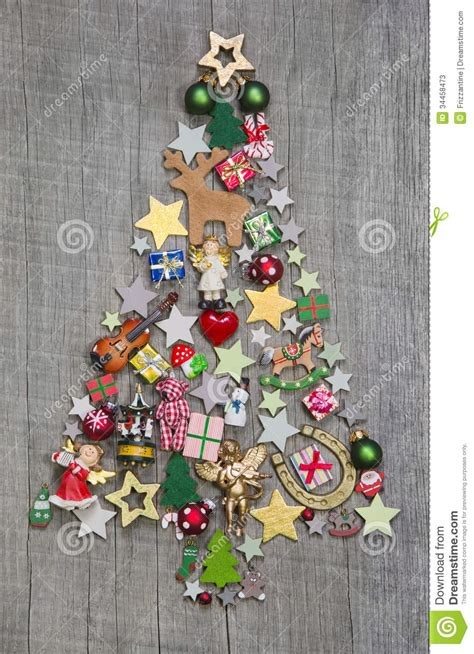 christmas tree   wooden background  idea   greeting  stock image image