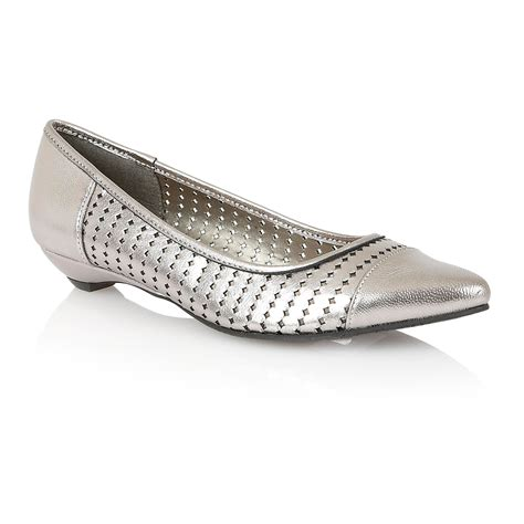 flat shoes silver lotus flat shoes in silver pewter save 50 lyst