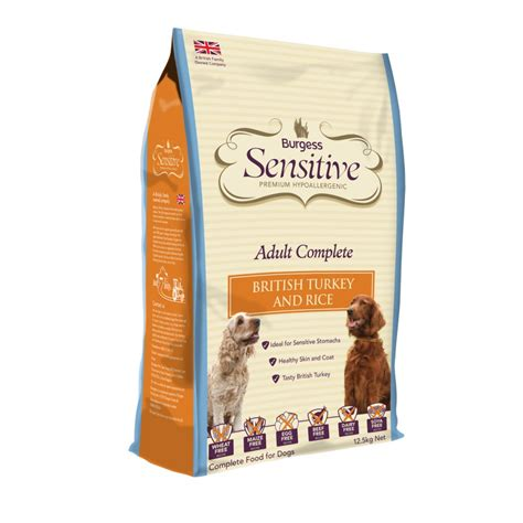 hypoallergenic puppy food burgess sensitive food with turkey rice 2kg feedem