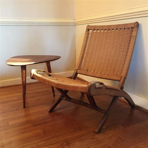 modern folding furniture vintage mid century modern corded chair in the style of
