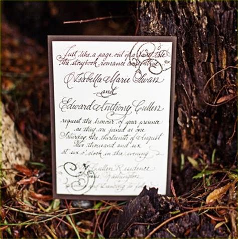 twilight saga wedding invitation wedding event planning decor floral design cleveland oh and dallas tx twilight