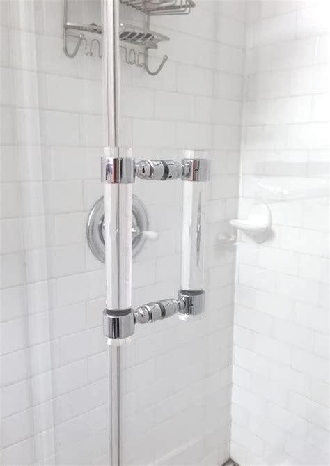 Lucite Shower Door Pull Handles Pair Chrome Or By Luxholdups Perspex Shower Doors