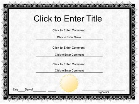 Certificate Templates Twelwe Image Powerpoint Certificate Template Free