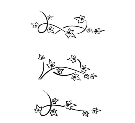 simple vine tattoo designs simple ivy vine drawing 18 latest ivy tattoo designs and