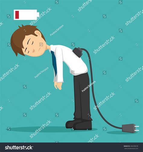 hard work man tired man business stock vector 660628576 businessman tired working low battery need stock vector