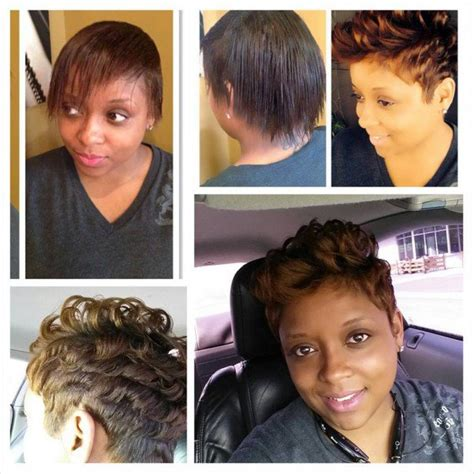 Cheryl Sarten Hair Stylist | quanella did her own color and the cut was done by stylist