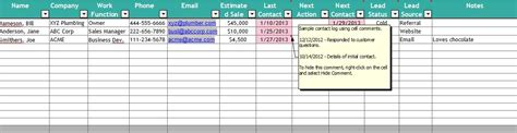 Customer Tracking Excel Template by Crm Excel Spreadsheet