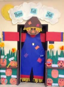 preschool door decorations scarecrow for fall
