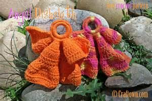 Free crochet pattern angel dishcloth