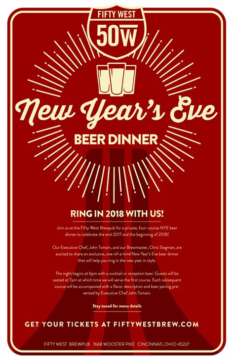 new year dinner bandung 2018 2018 fifty west nye dinner sold out fifty west brewing