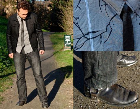 nikolaj persson h m black denim jacket blend grey