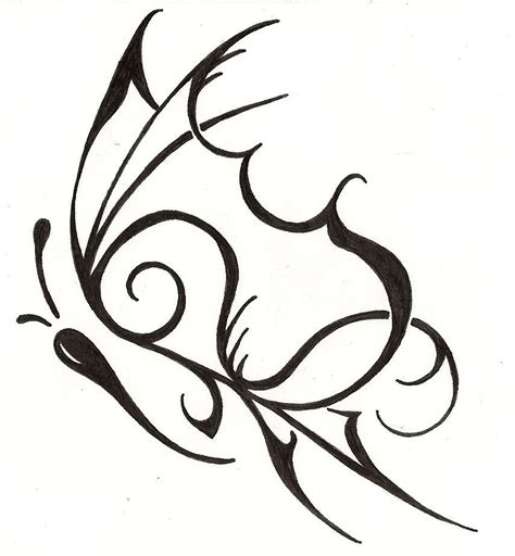 feminine tribal tattoo designs tribal butterfly feminine design www silverwingsart