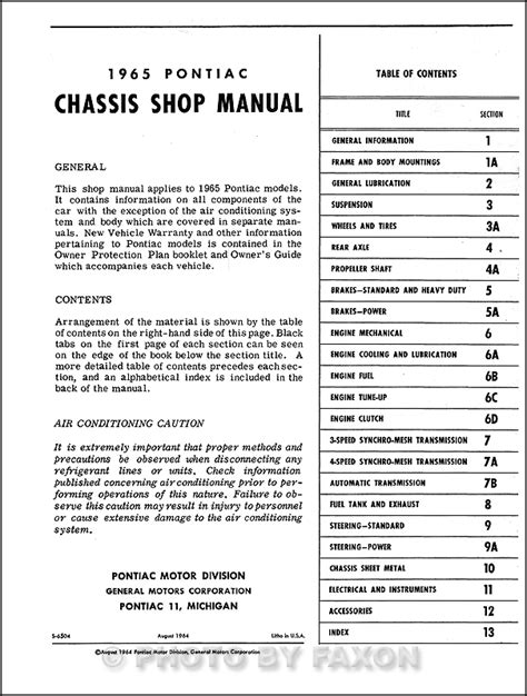 car repair manuals online free 1965 pontiac grand prix free book repair manuals 1965 pontiac repair shop manual reprint catalina star chief bonneville grand prix