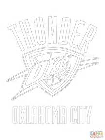 in color okc coloriage logo des thunder d oklahoma city coloriages