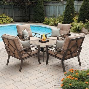 patio tables with pits 21 best patio furniture images on