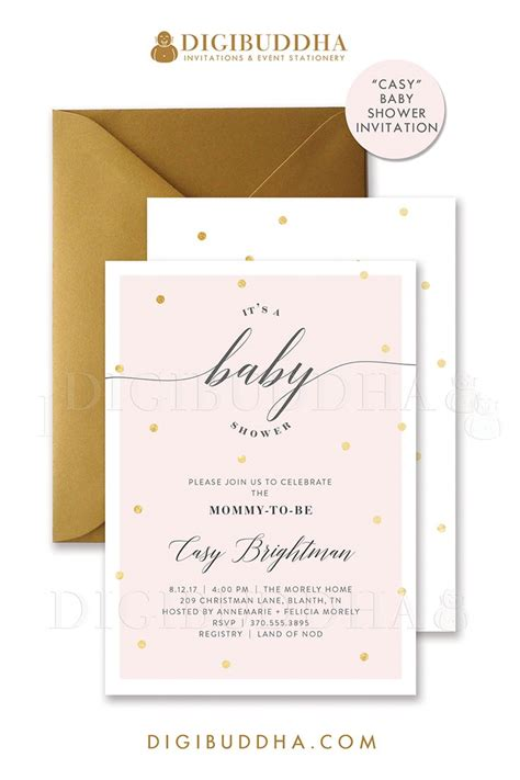 printable invitations with envelopes 150 best digibuddha baby shower invitations images on