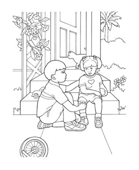 lds coloring pages kindness helping others who are hurt k i d s s a b b a t h s