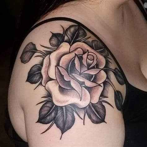 classic rose tattoos flower tattoos on shoulder flowers ideas for review