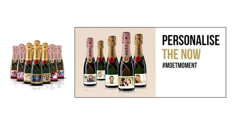 mo 235 t chandon personalised bottles glass of bubbly
