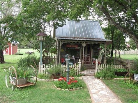 Shed Country by Country Garden Shed Tin Roof Picket Fence Water