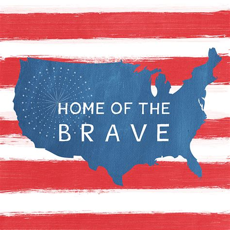 home of the brave ringer t shirt for sale by woods